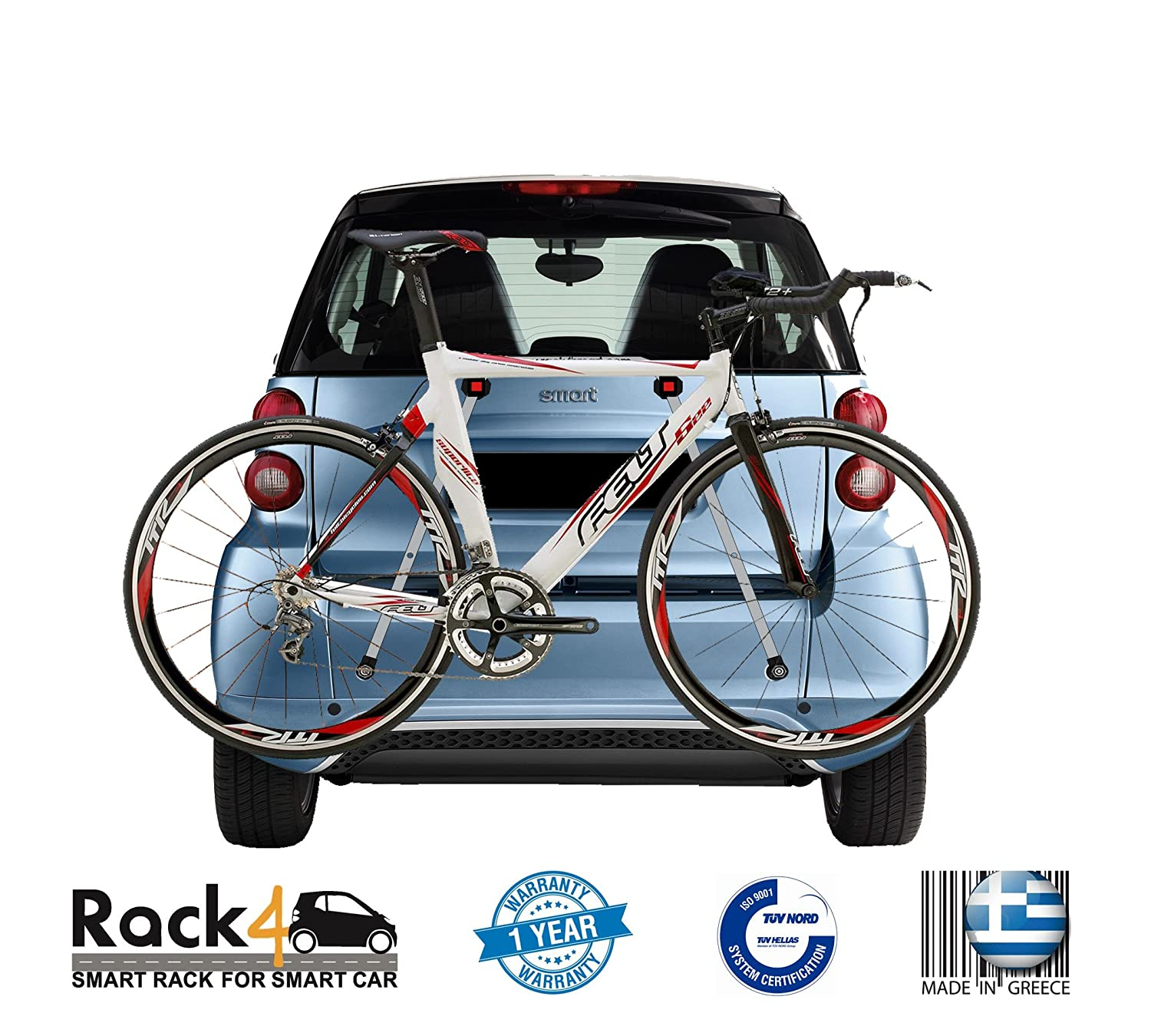 Amazon.com : 2 Bicycles rack for Smart Fortwo 451 cabrio - coupe ...