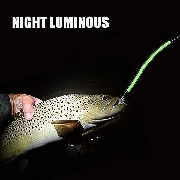 TOMTO 6M Fishing Luminous Tube Line Angling Glow Tubing Fishing Tackle Soft Plastic for Deep Sea Fishing Night Fishing Attract Fish Light Green