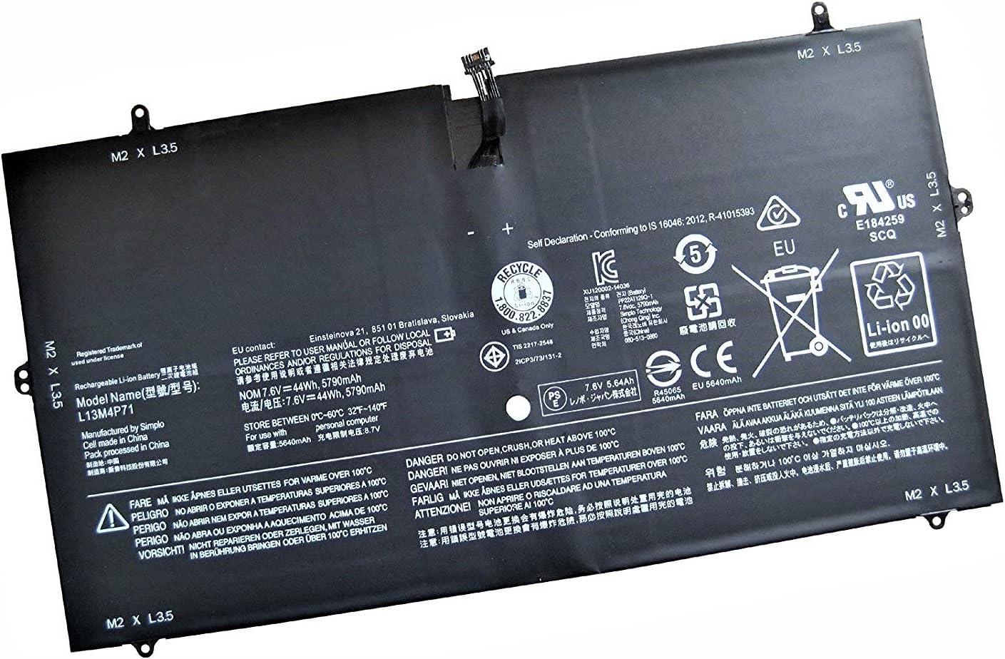 SERNN L13M4P71 Replacement Laptop Battery (7.6V 44WH/5900MAH) for Lenovo Yoga 3 Pro 1370 Series Laptop
