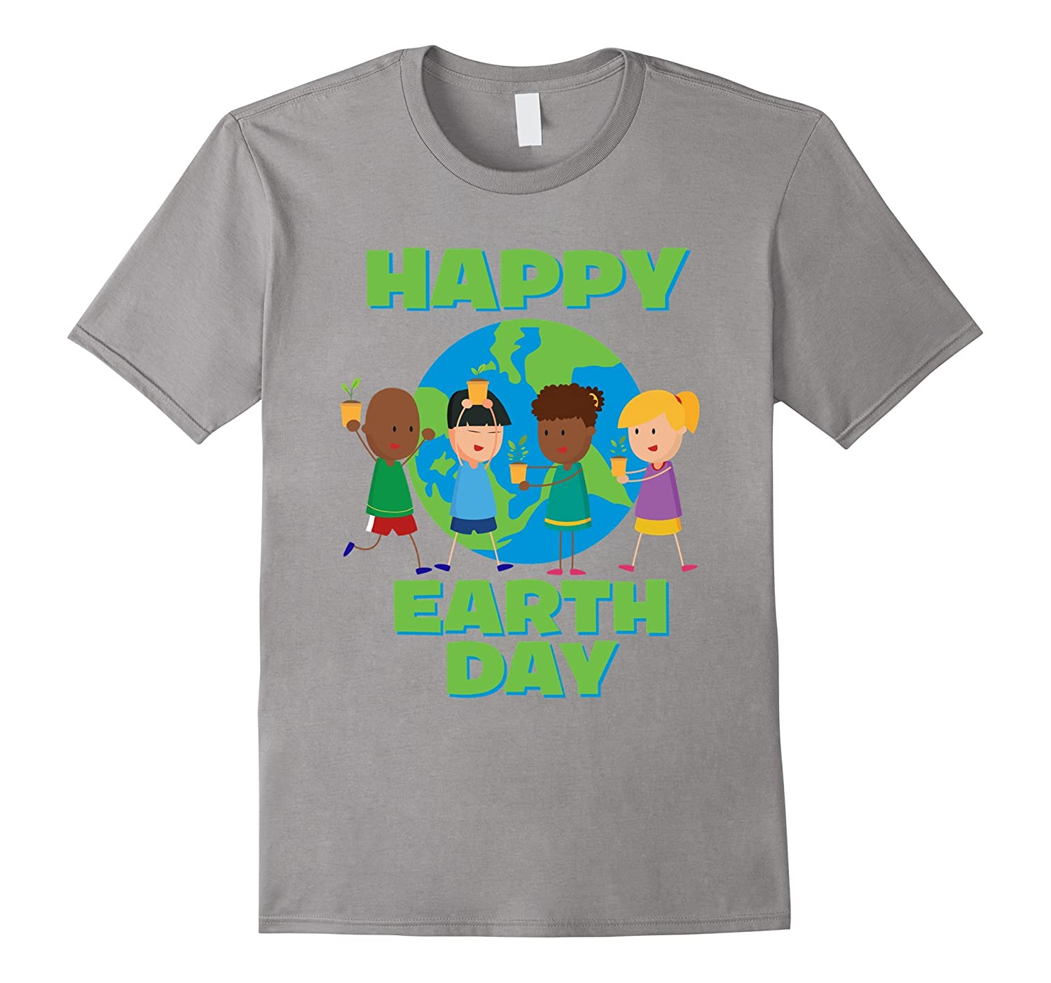 Happy Earth Day - Cute Colorful Children Earth T-shirt-TD