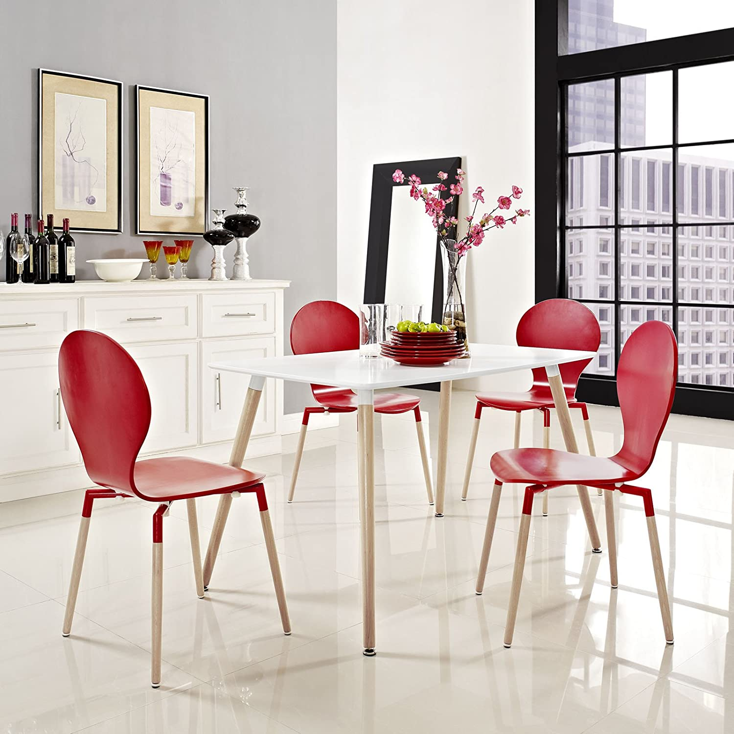 Amazon Modway Field Dining Table White Tables