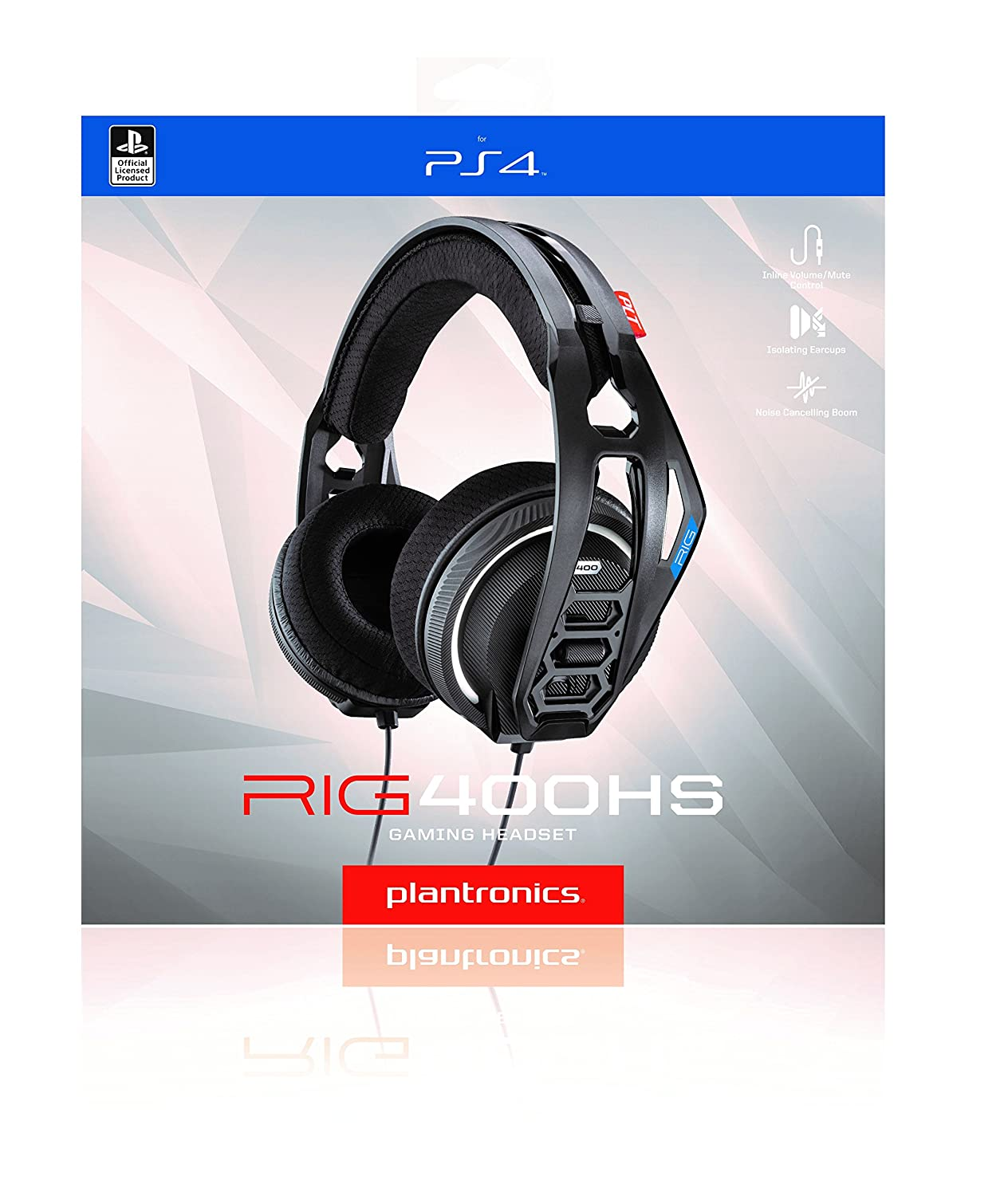 Amazon.com: Plantronics RIG 400HS Stereo PS4 Gaming Headset Headphones & Boom Mic | Black: Electronics
