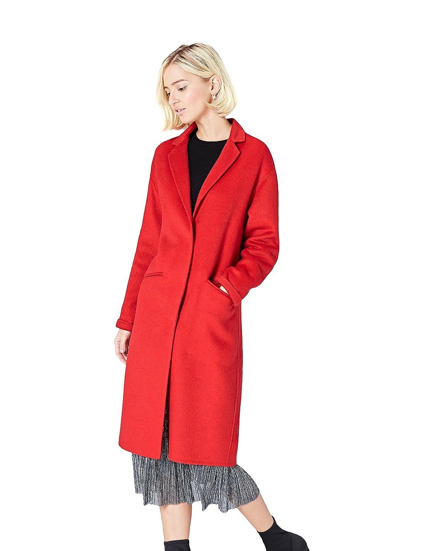 TALLA 36 (Talla del fabricante: X-Small). FIND Abrigo Midi de Corte Recto en Tela Ligera Mujer
