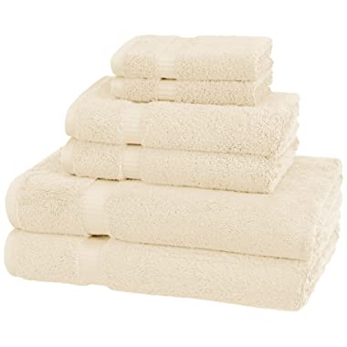Pinzon Organic Cotton Towels 6 Piece Set, Ivory