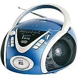 Trevi CMP 542 USB Stereo Portatile Boombox con Lettore CD, Mp3, USB, Radio, Blu