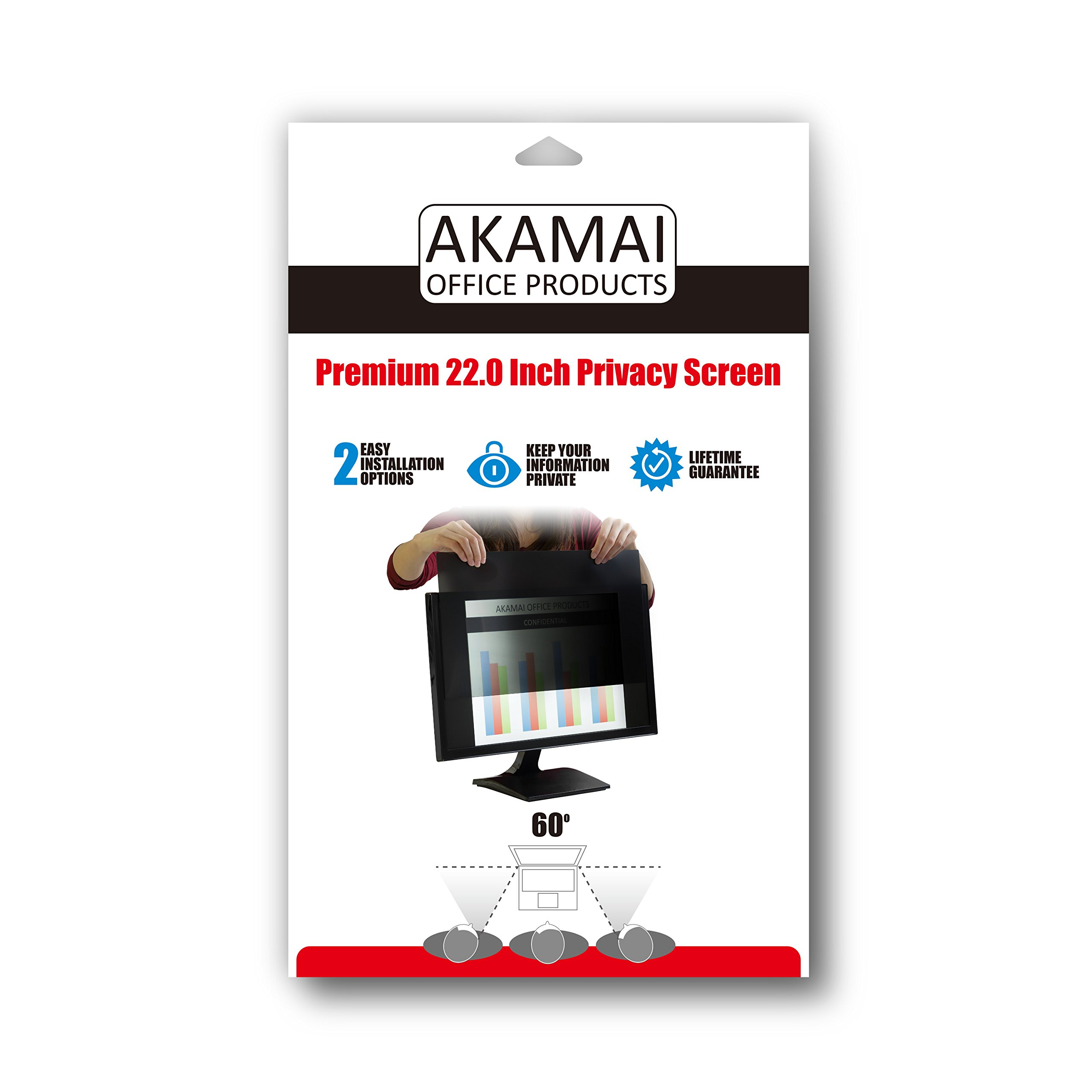 Akamai Office Products 22.0 Inch (Diagonally Measured) Privacy Screen Filter Widescreen Computer Monitors-Anti-Glare (AP22.0W) PLEASE MEASURE CAREFULLY by Akamai Office Products (Image #6)