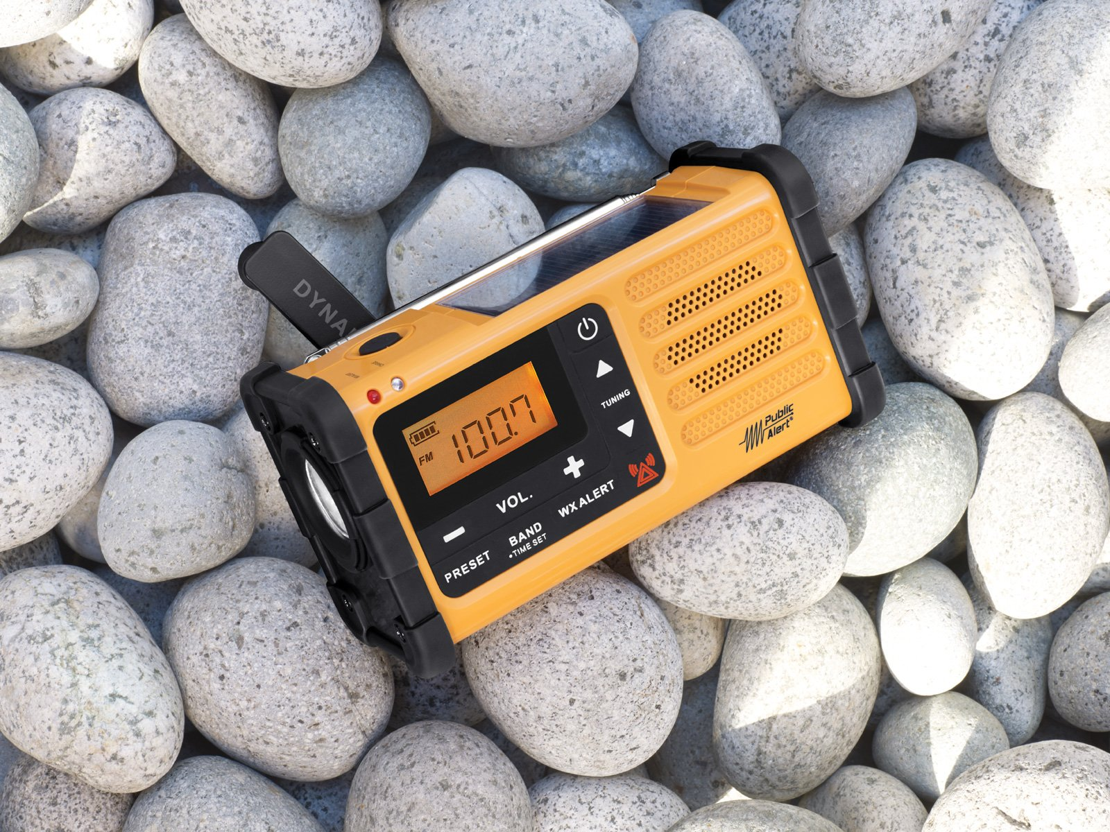 Sangean Portable Digital AM/FM Emergency Weather Alert Radio with Large Easy to Read Backlit LCD Display