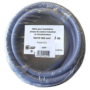 gefom 4401 Cable de transmisión 3 g6 mm² HO5VV-F 3 m para ...