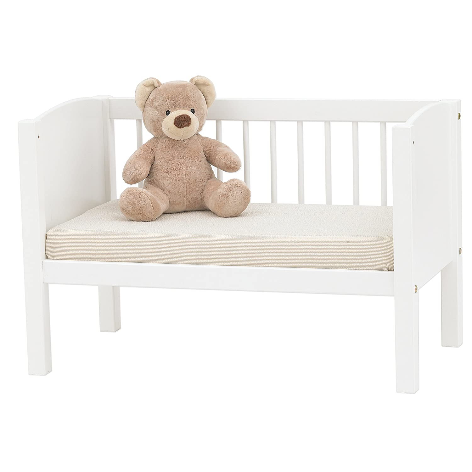 White Hoppekids can be Modified into a Bench Single Reclining Area 80 x 40 cm Solid Pinewood//MDF Wood