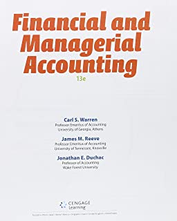 Bundle Financial Managerial Accounting Loose Leaf Version 13th CengageNOWv2