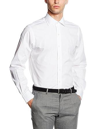 Polo Ralph Lauren REG PPC NK-Dress Shirt, Camisa para Hombre, Weiß ...