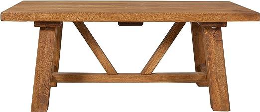 modasa vida mango madera caballete mesa de café/acabado piedra ...