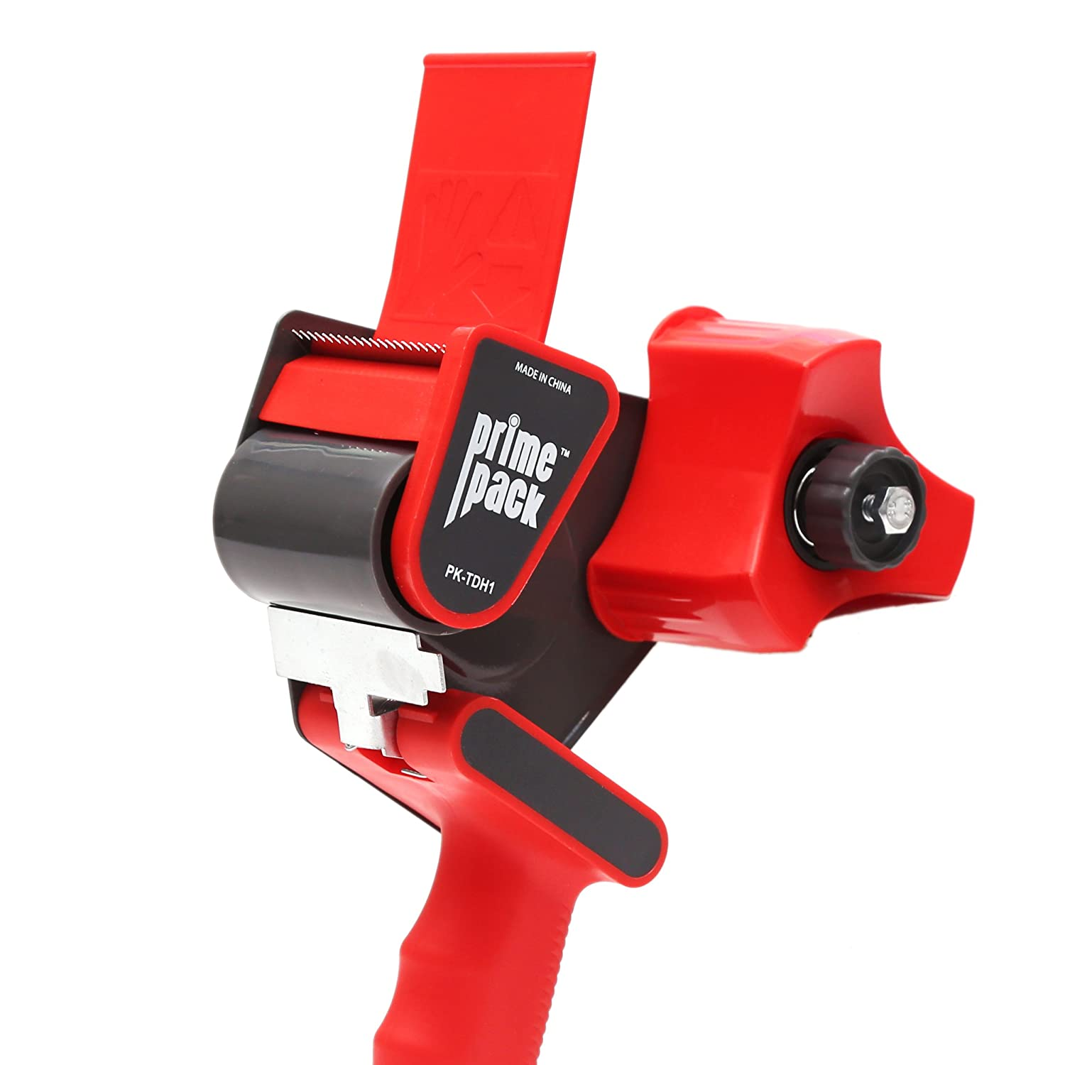 PRIMEPACK Packing Tape Dispenser Gun | Industrial Quality Metal Housing - Easy Side Loading Design - Durable and Ergonomic for Shipping, Packaging and Moving GRANDEGO