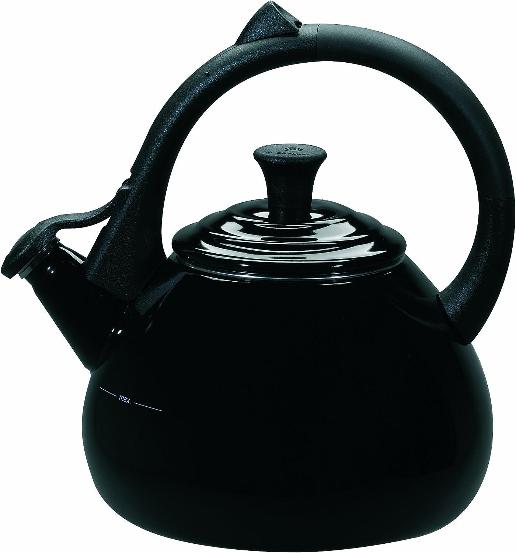 Black Le Creuset Enameled Steel 1.6 Quart Oolong Tea Kettle