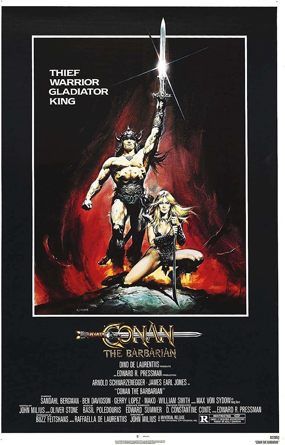 "Conan The Barbarian (1982) Movie Poster 24""x36"" Certified Print with Holographic Numbering for Authenticity"