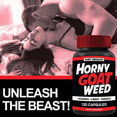 Horny Goat Weed 120 Capsules Extra Strength Men s Test Booster 1000mg l Endurance and Strength Booster L-Arginine l Tribulus, Maca Root, Muira Puama, Saw Palmetto Panax Ginseng l USA Made
