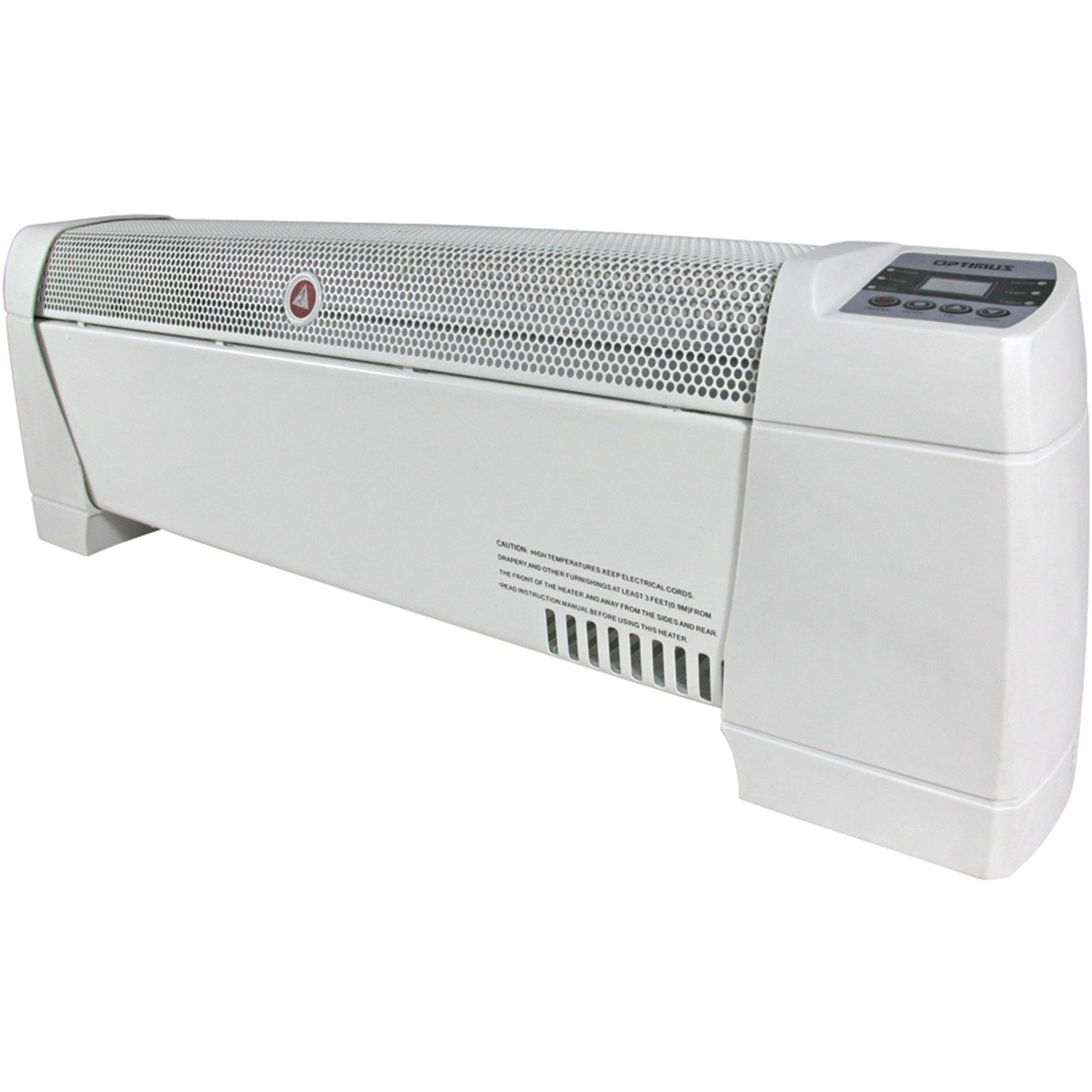 Electric 30'' Baseboard Convection Digital Display White Heater with Automatic Thermostat Control
