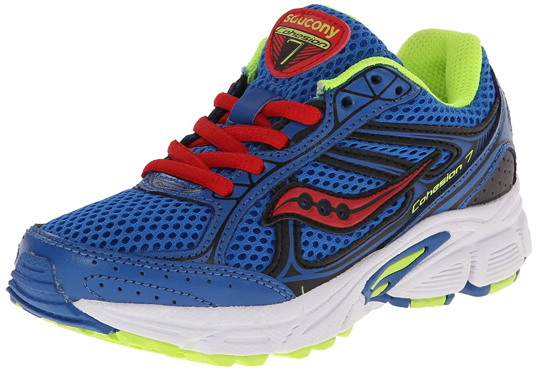 130d57457d Saucony Boys' Cohesion 7 Lace Running Shoe (Little Kid/Big Kid)