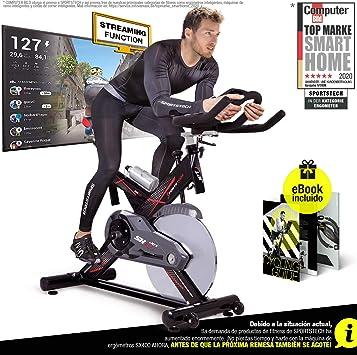 Sportstech Bicicleta estática Profesional SX400 - Marca de Calidad Alemana - Eventos en Video & Multiplayer App, Volante de 22Kg, Pulsómetro ...