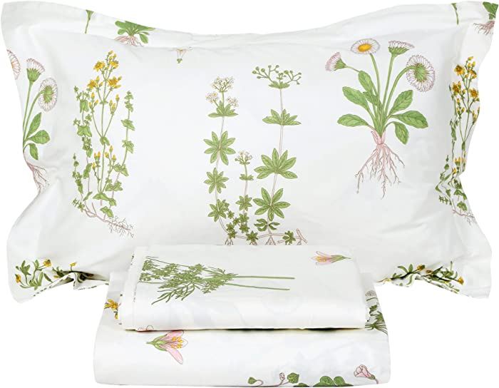 The Best Elite Home Products Brighton Floral Sheet Set