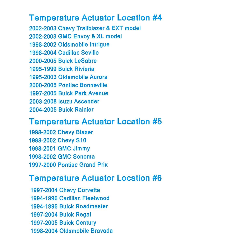 Amazon.com: OKAYPARTS Blend Door Actuator replaces 89018365, 52402588,  15-72971, 604-106 for Chevy Silverado 1500 Silverado 2500 HD Tahoe, GMC  Sierra 1500 ...