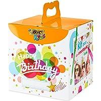 BIC Kids Caja de colores de Cumpleaños - 12 Lápices de colores /12 rotuladores de colores /12 Ceras Blandas /6 Tubos de…