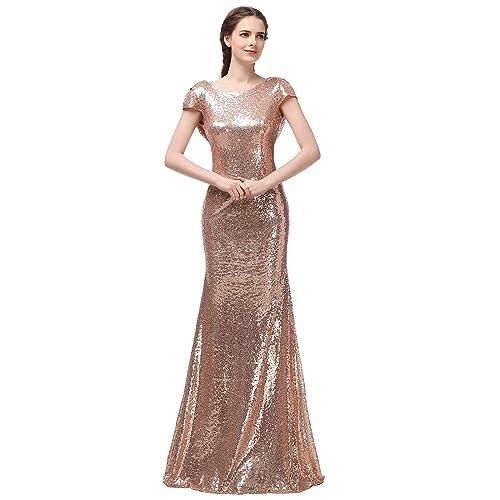 Gold Bridesmaid Dresses: Rose Gold Bridesmaid Dresses: Amazon.co.uk