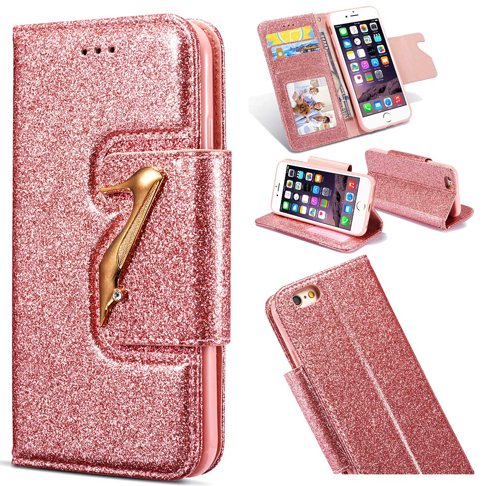 Amazing Bling Diamond Compatible with iPhone Xs Max,Glitter 3D Wallet Leather Stand Function Flip Kickstand Magnetic Book Wallet with Card Slot Holder Protective
