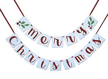 merry christmas banner sign garland bunting christmas decoration