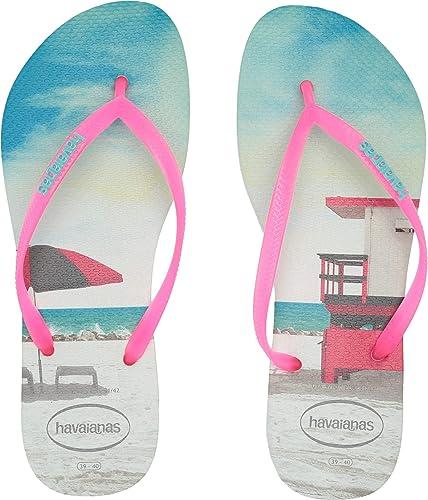 3d67f1077e8f0a Havaianas Women s Slim Paisage Flip Flops Apple Green 35-36 M Bra