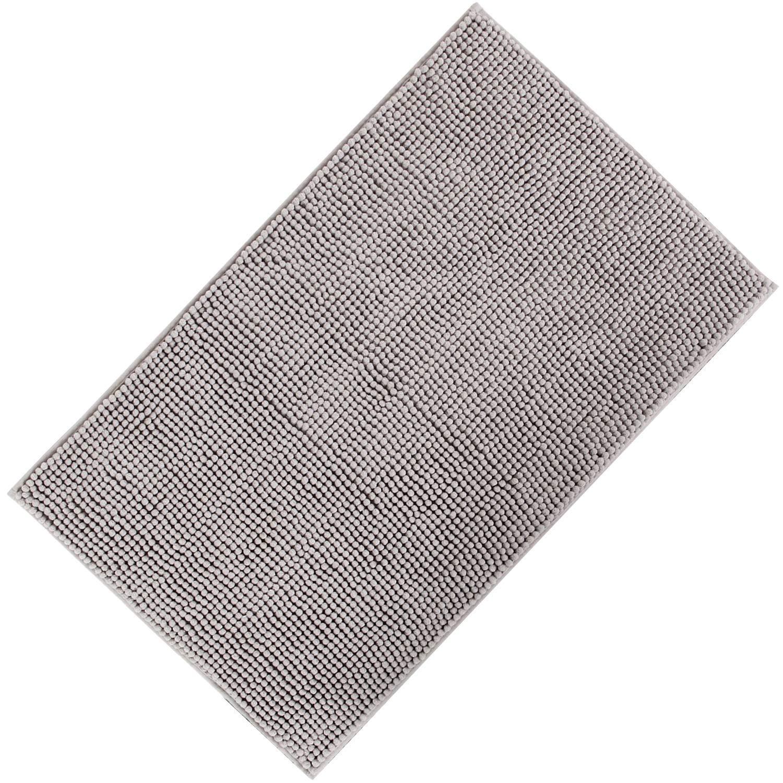 Lifewit Tappeto Antiscivolo da Bagno Doccia in Microfibra Ciniglia Cottone 50x 80cm (2 pezzi & Bianco80*50cm)