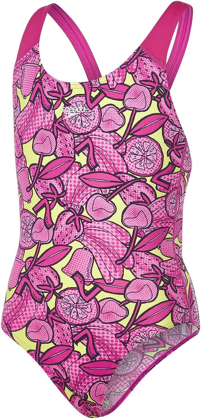 Speedo Colour Pops Allover Splashback Girls Swimsuit Swimming Costume