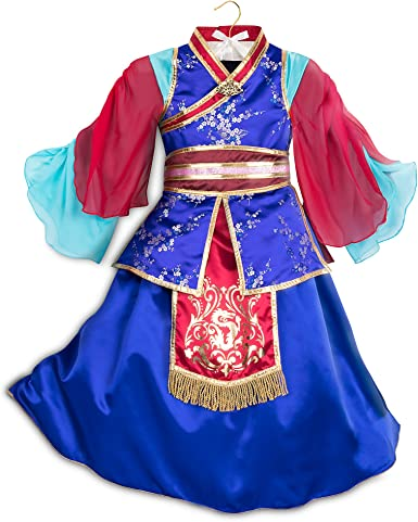Amazon Com Disney Mulan Deluxe Costume For Kids Multi Clothing