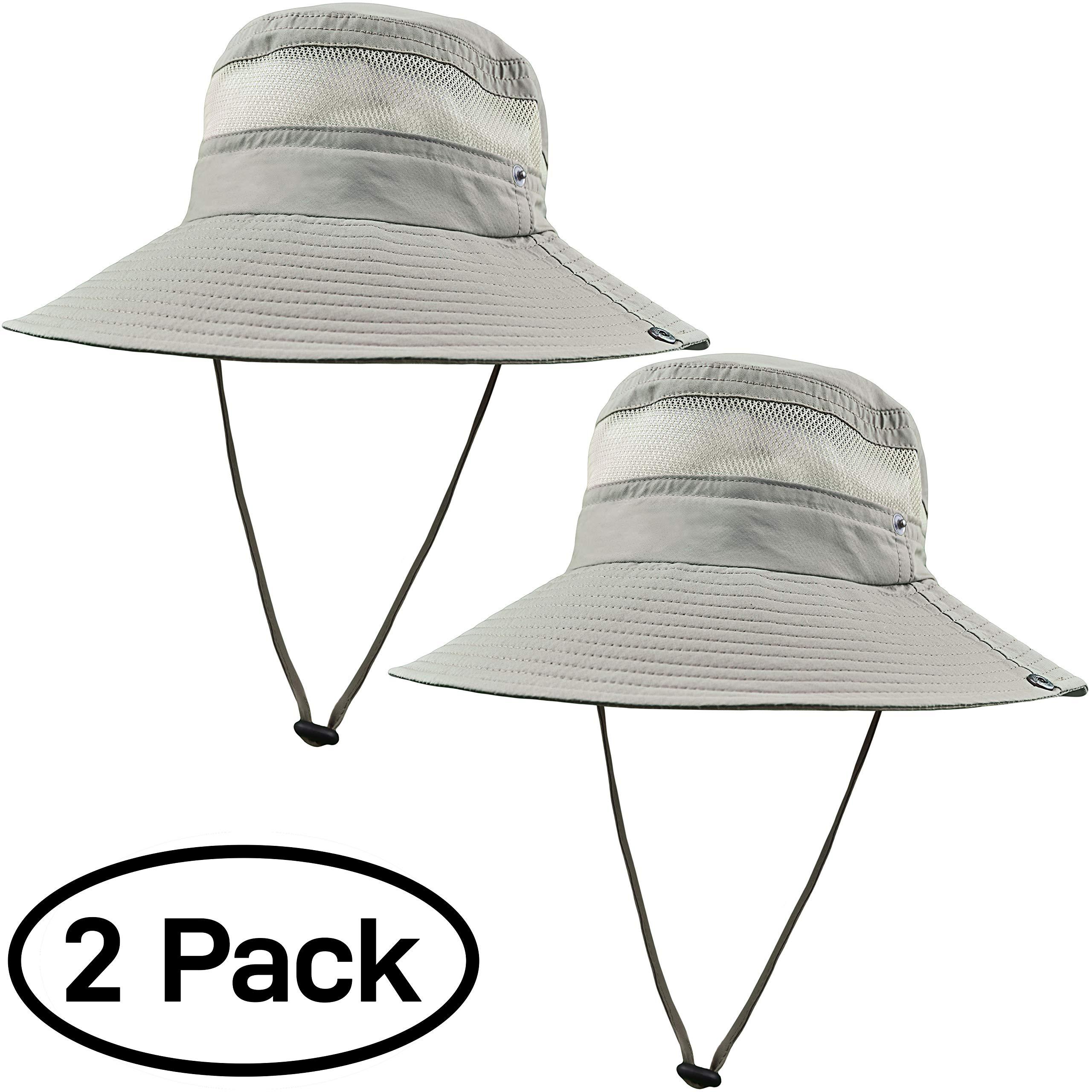GearTOP Fishing Hat (Khaki - 2 Pack) by GearTOP (Image #4)