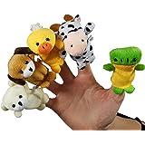 Natureich Fingerpuppen Set mit 5 Tierfiguren Samt Weiche Spielzeug Tiere Puppen inkl. Stoffbeutel für Kinder ab 3 Jahre