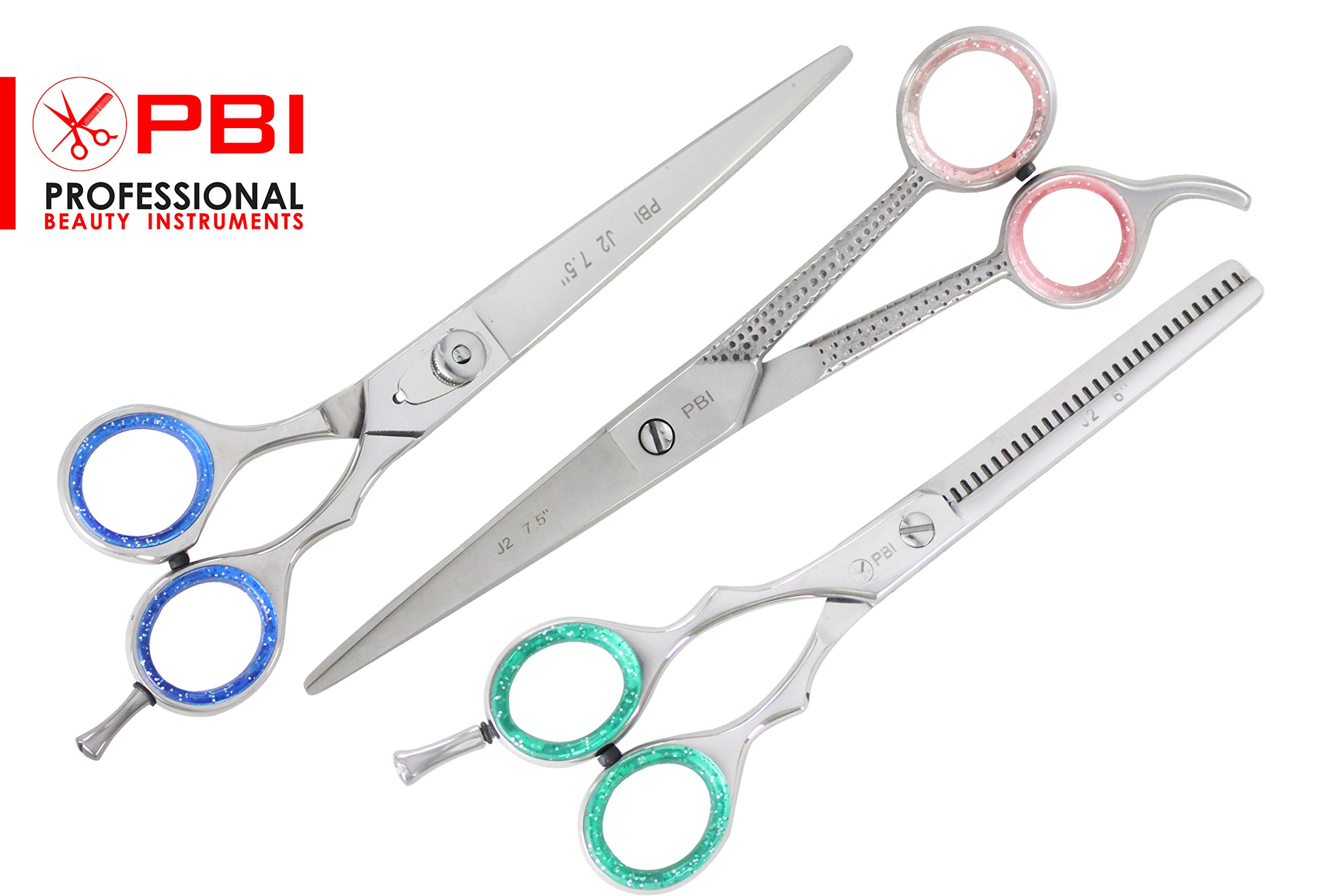Professional Hair Cutting Shear Dogs Cats Animals , Pet Grooming Shears 7.5 inch With Thinning Scissors 6 inch , Two Scissors One Thinning Stainless Steel from PBI