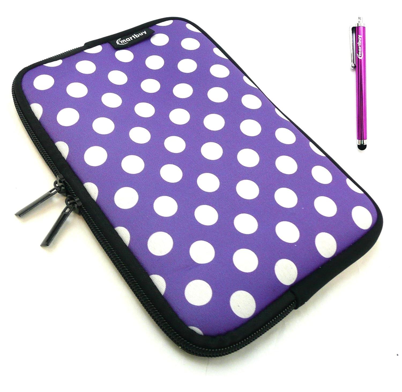 Ipad Mini Ipad Mini 2 /& Ipad Mini 3 Tablet Purple Water Resistant Neoprene Soft Zip Case Cover Sleeve Pouch suitable for New Apple Ipad Mini 5 Emartbuy Purple Stylus Ipad Mini 4