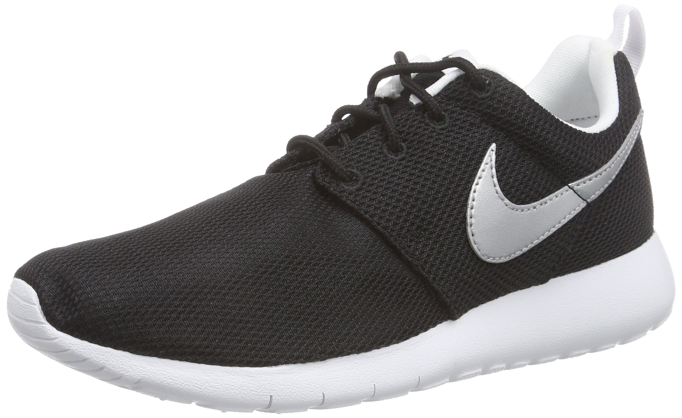 Nike Kid's Roshe One GS Black/White/White/Metallic Silver (6)