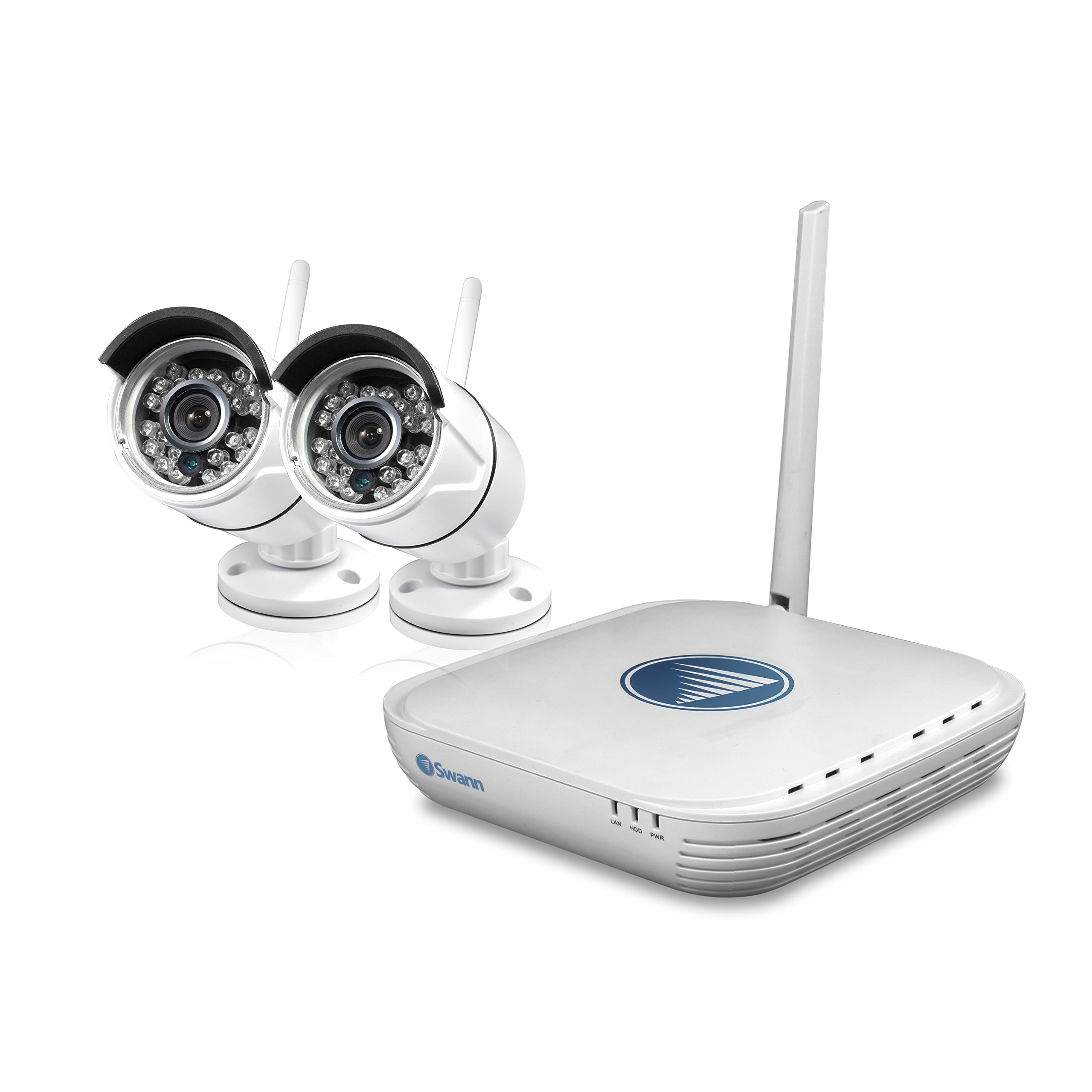 Swann SWNVK-460KH2-US NVK-460 Wi-Fi Security Kit (White) by Swann