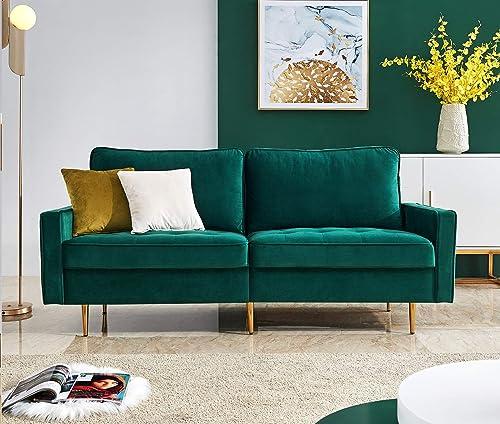 Rhomtree Mid Century Sofa Velvet Fabric Upholster Couch 71 Modern Sectional Futon Bench Loveseat Living Room Sofa