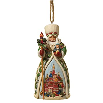 Amazon.com: Jim Shore Heartwood Creek Russian Santa Stone Resin ...