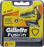 Gillette Fusion Proshield Flexball Cuchillas de Afeitar para Hombre - 6 unidades