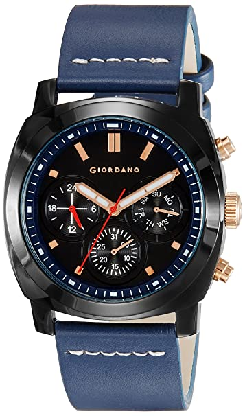 Giordano Analog Black Dial Men's Watch - 1751-05 Men's Watches at amazon