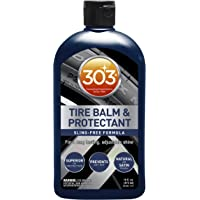 303 Products  (30387 Automotive Tire Balm and Protectant - Sling Free Formula - for A Long Lasting Adjustable Shine - Natural OR Satin Finish - Prevents Dry Rot, 12 fl. oz.