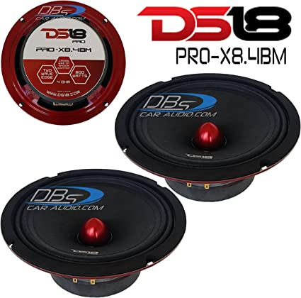 "DS18 PRO-X8M 8/"" Midrange Speaker 550W Max 8 Ohm 8 inch Midbass"