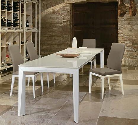 Tavolo Laccato Lucido Bianco.Friulsedie Tavolo Allungabile T78 Matrix 160x90 Ultra Gambe