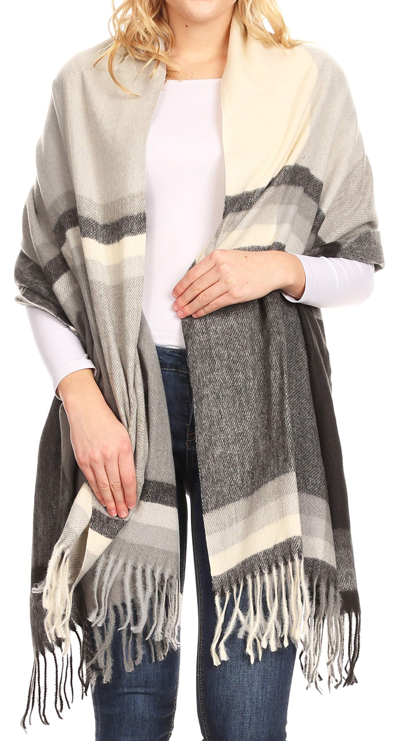 Sakkas Martinna Women's Winter Warm Super Soft and Light Pattern Shawl Scarf Wrap