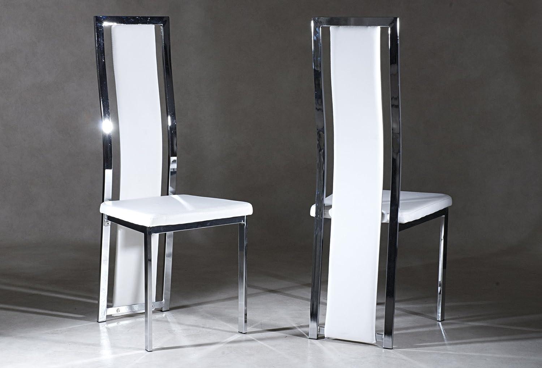 Ice Stühle, Weiß, 6 Stück