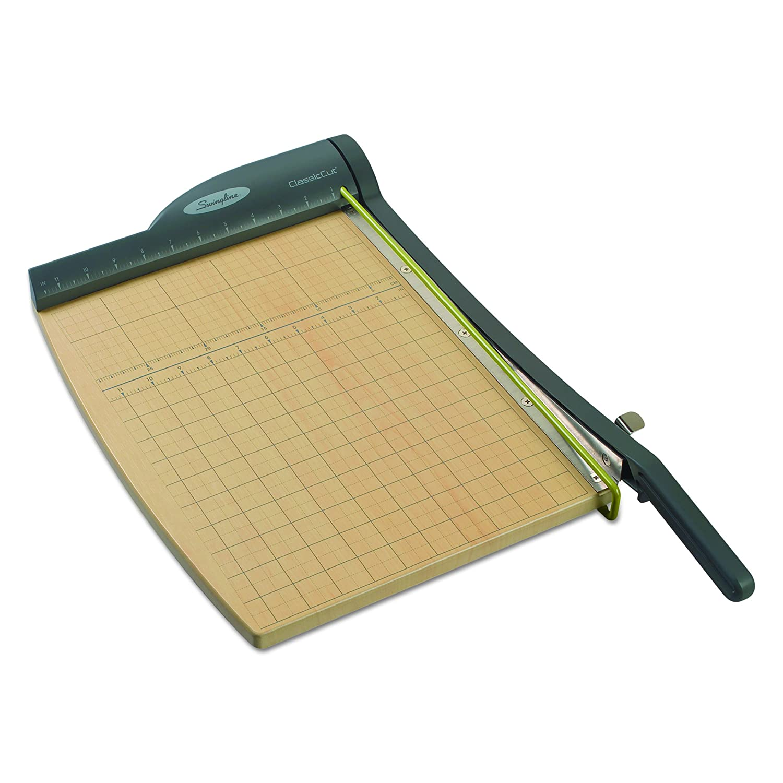 Swingline 9112 ClassicCut Pro Paper Trimmer, 15 Sheets, Metal/Wood Composite Base, 12 x 12 ACCO Brands