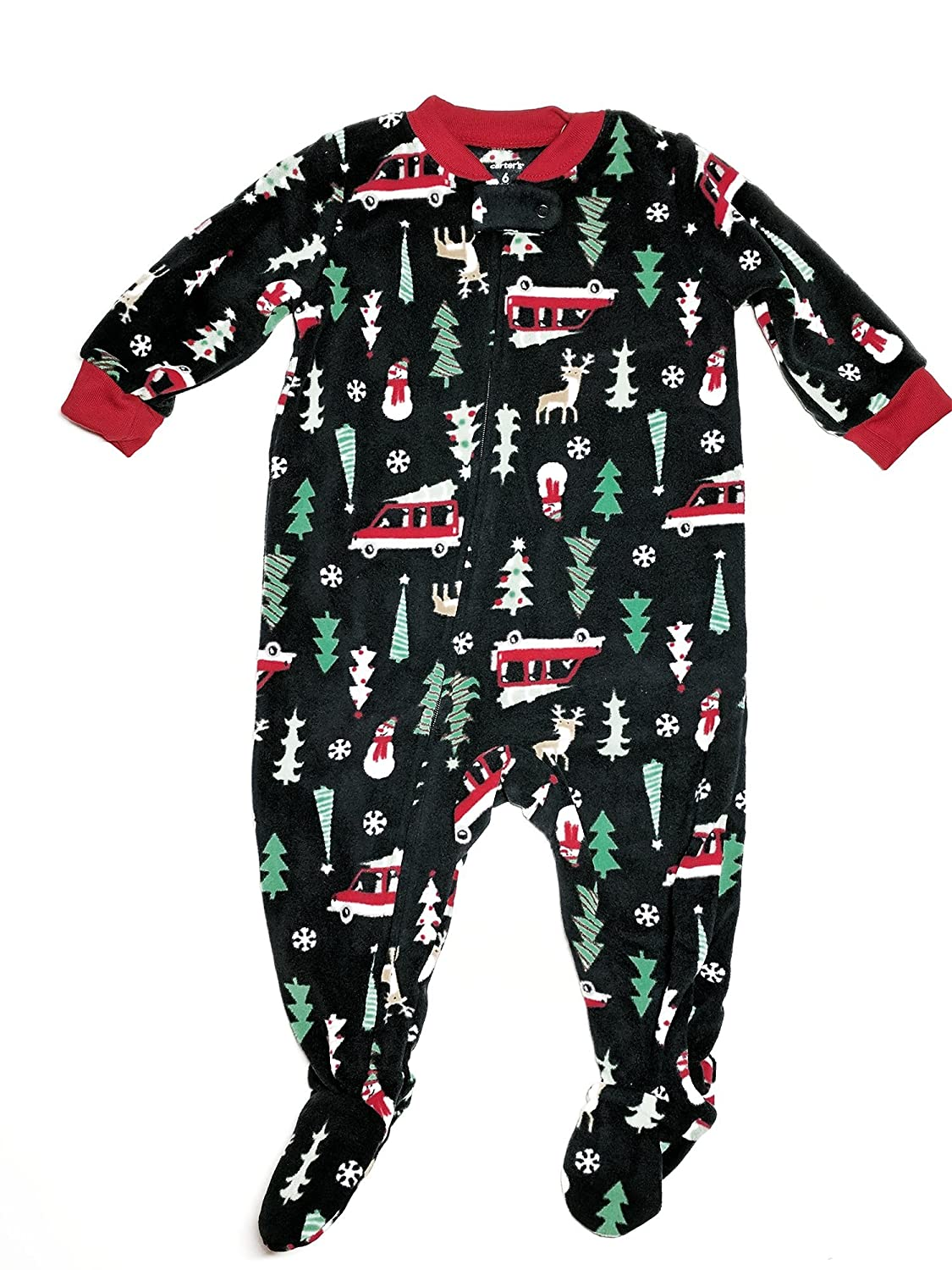 Carter's Baby Boys' Santa Print Fleece Zip up Sleep Play Carters 327G106